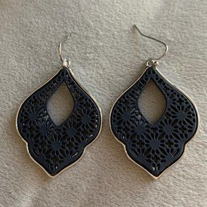 Gorgeous black and silver cut-out earrings. NWT